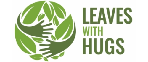 Leaves with hugs logo